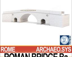 roman bridge ba 3d model obj 3ds c4d