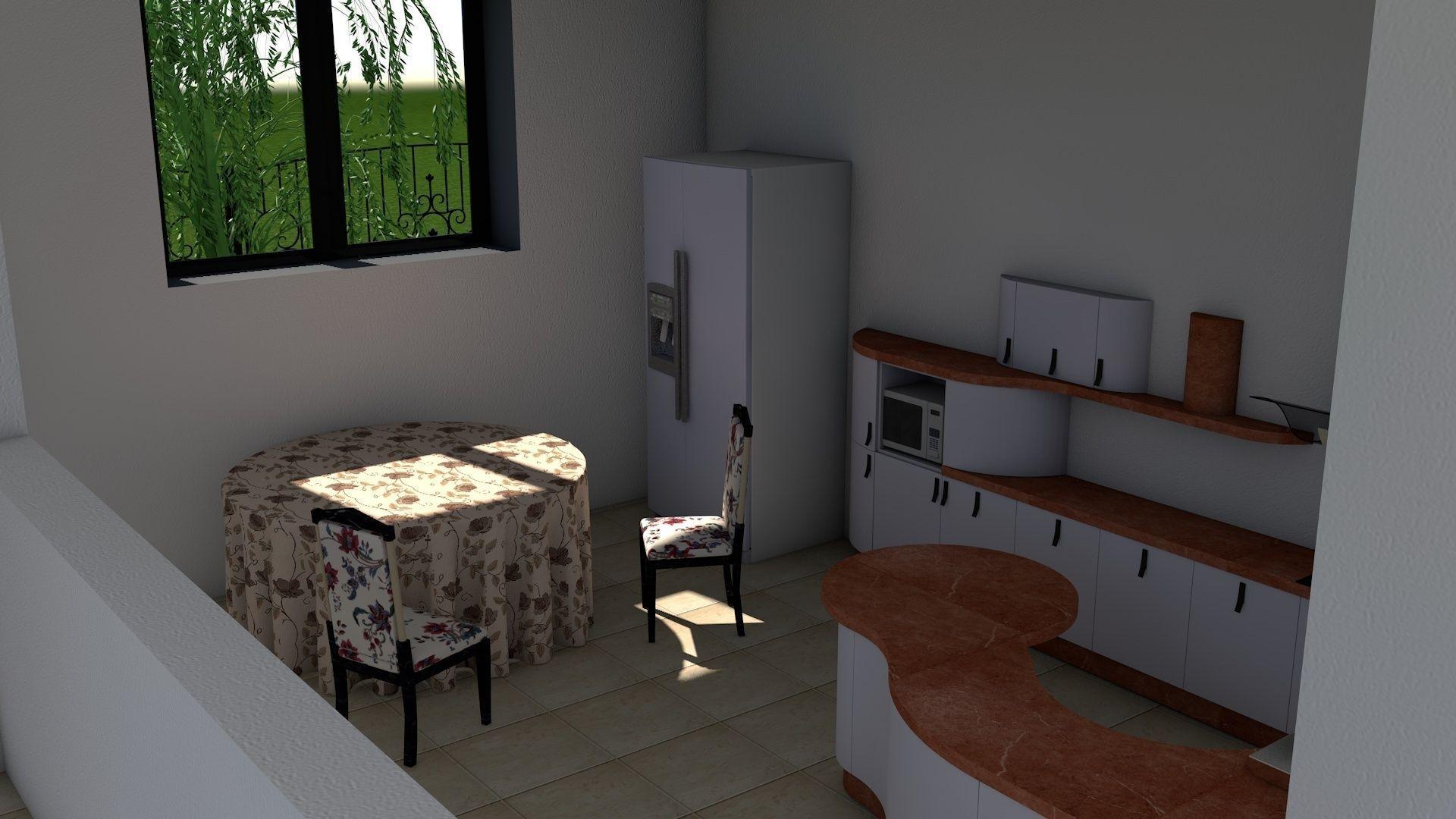 Modern house interior exterior design 3d model c4d 8