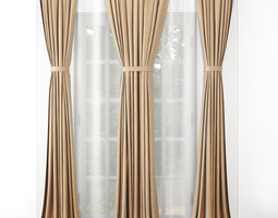3D Curtain draperies