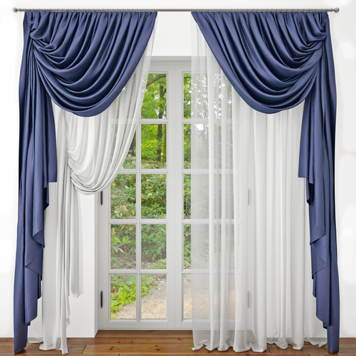 3d Curtains Door Cgtrader