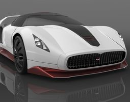 Maserati concept hypercar  3D Model