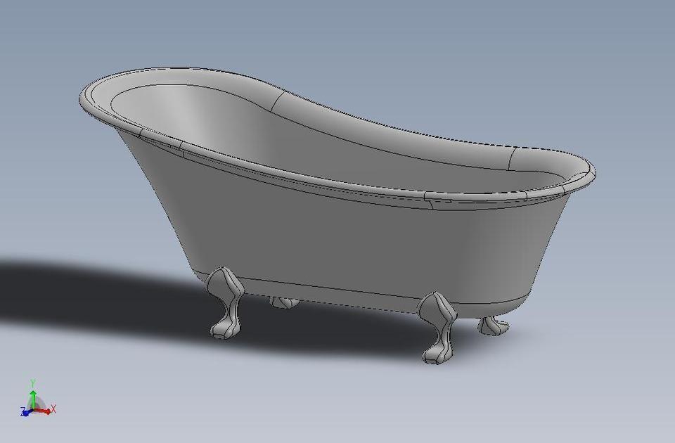 3D Clawfoot bathtub | CGTrader