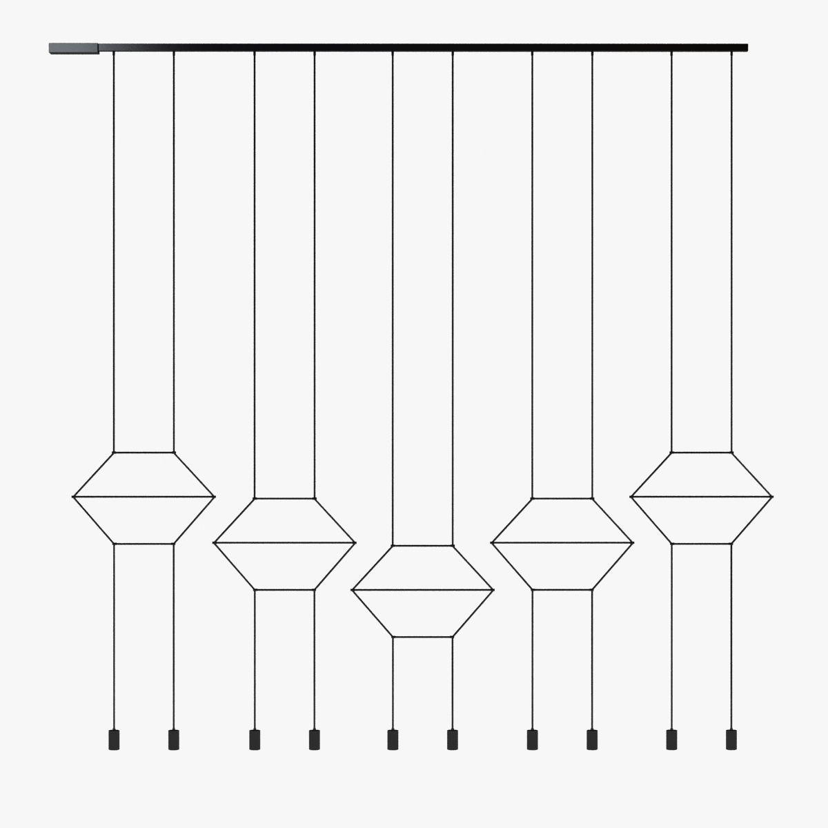 Vibia wireflow pendant