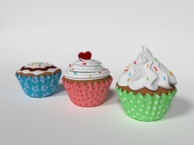 cupcake 3d model max fbx blend 1
