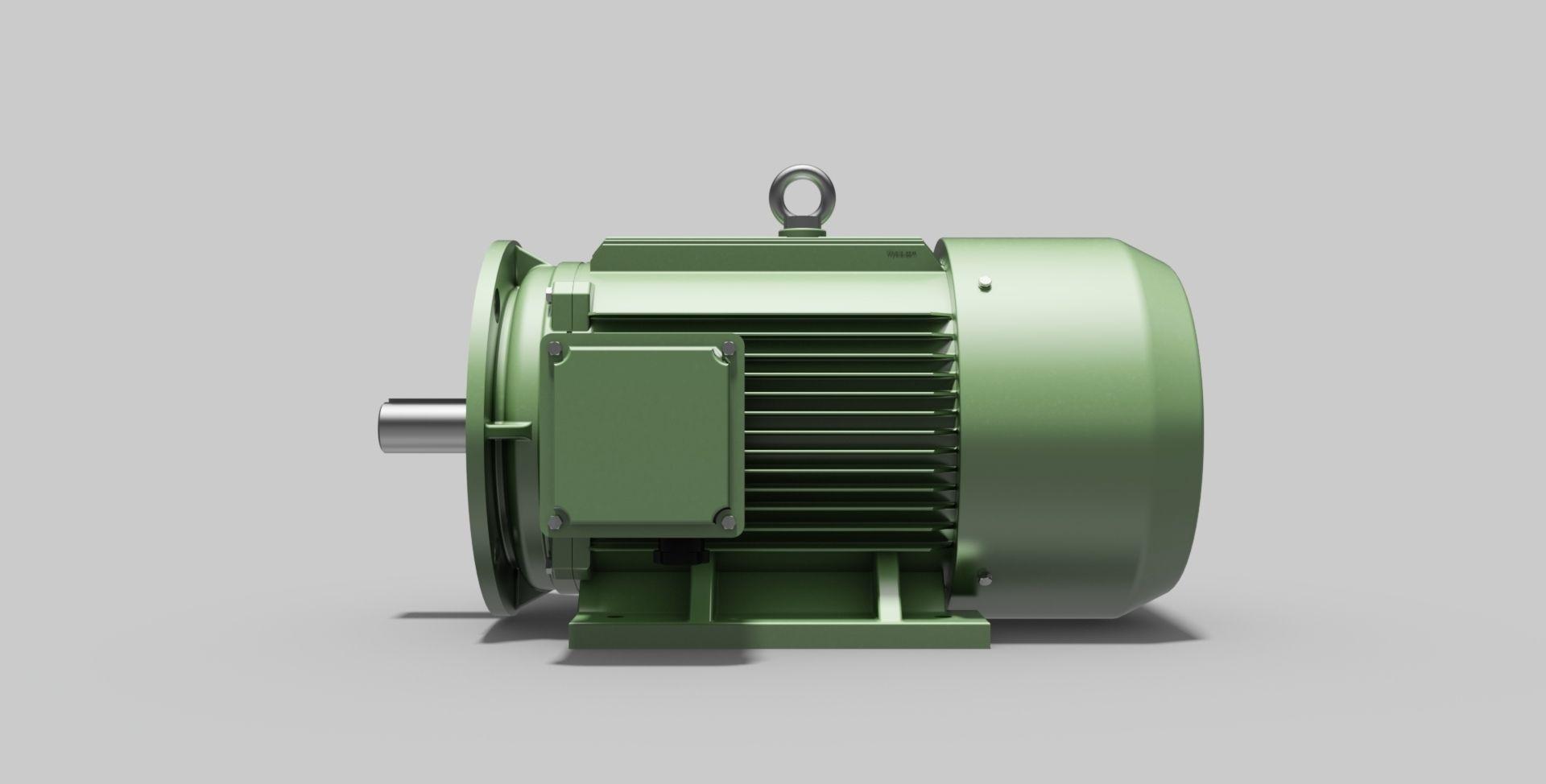 180L-B35 Right - Electric Motor - Free 3D CAD Model free 3D model