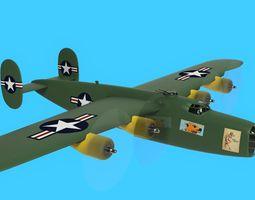 3D asset B 24 bomber p