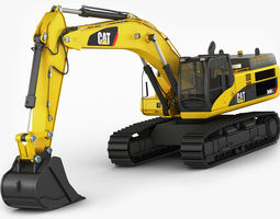 realtime excavator cat 345 dl 3d asset