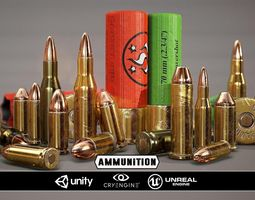 Ammunition - Model and Textures VR / AR ready