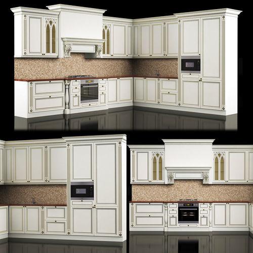 Classic Kitchen 3D Model