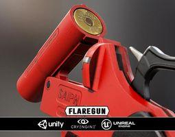 VR / AR ready flaregun - model and textures