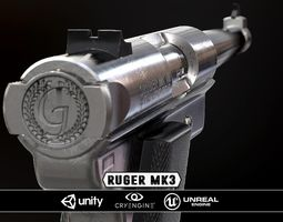 game-ready ruger mk3 - model and textures