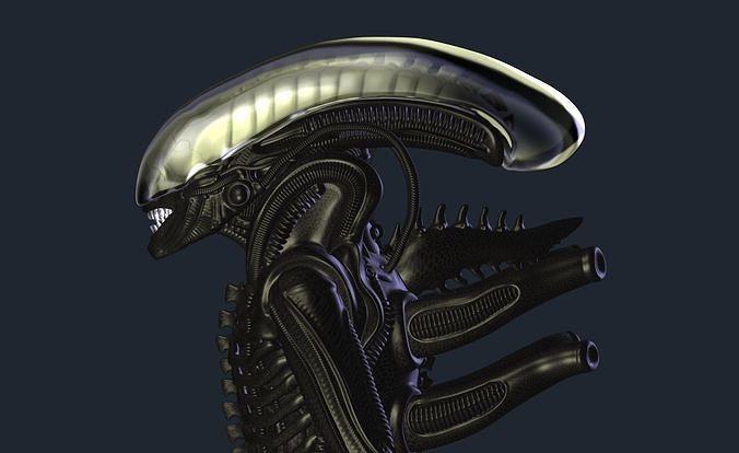 Alien model based on Gigers references