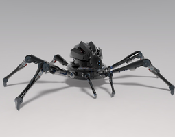 sci-fi spider 3d