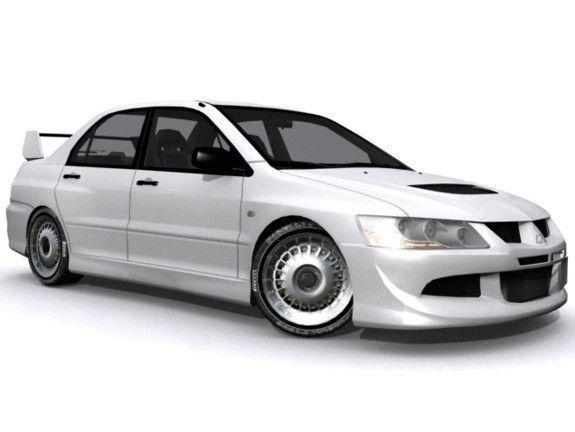 Mitsubishi Lancer Evolution Viii Rs 3d Model Low Poly Max Fbx Tga 1 ...