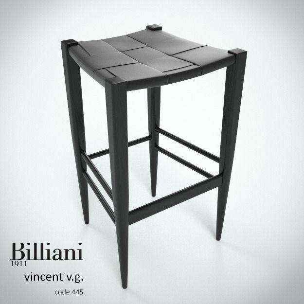 Billiani Vincent VG stool 445 black