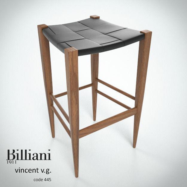 Billiani Vincent VG stool 445 teak