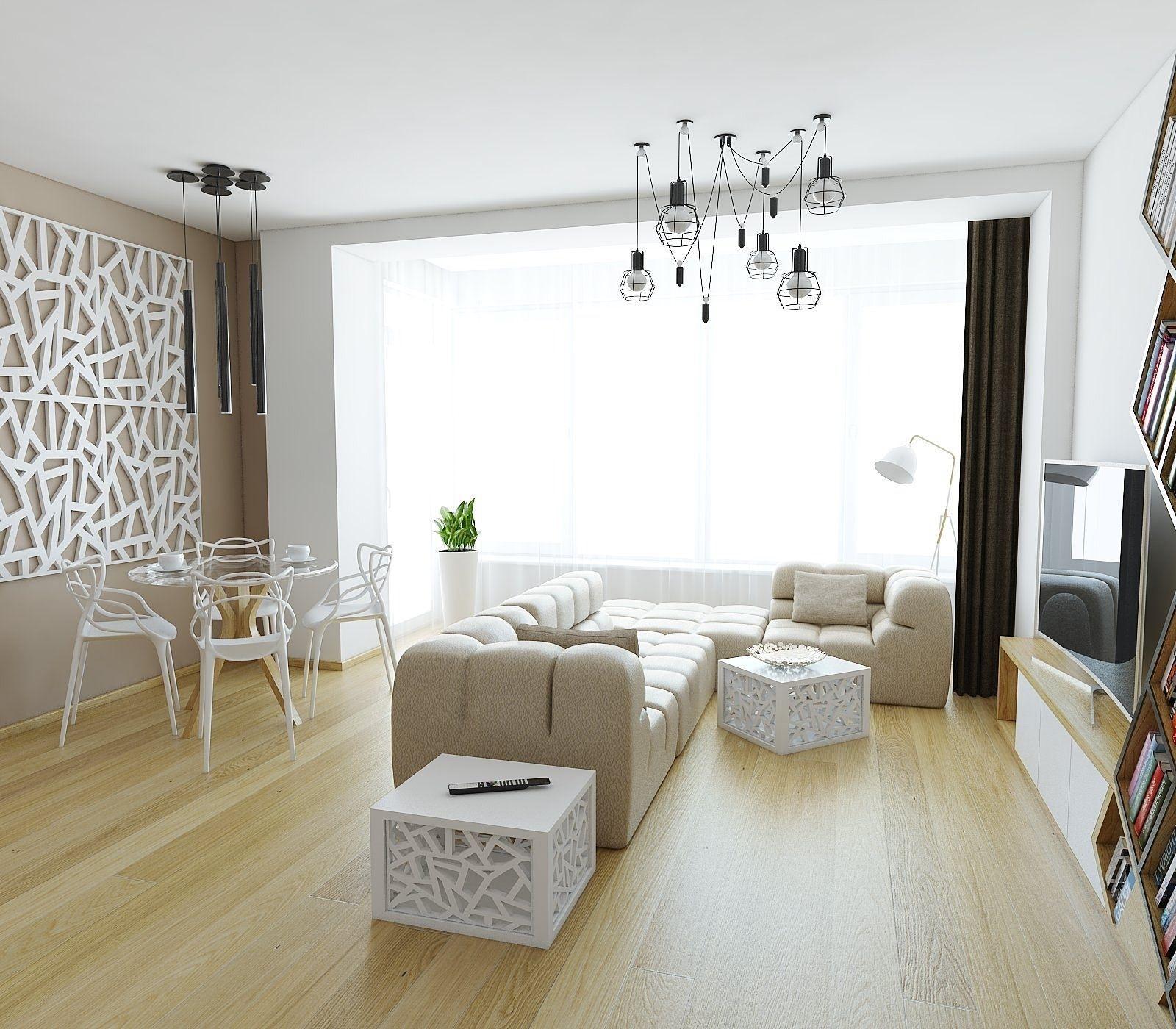 Cozy apartment living room design -  Cozy Apartment Living Room 3d Model Max Obj 3ds Fbx Stl Skp 3