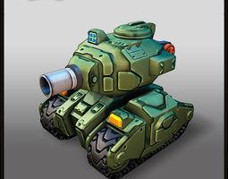 Cartoon Light Tank 3D Model