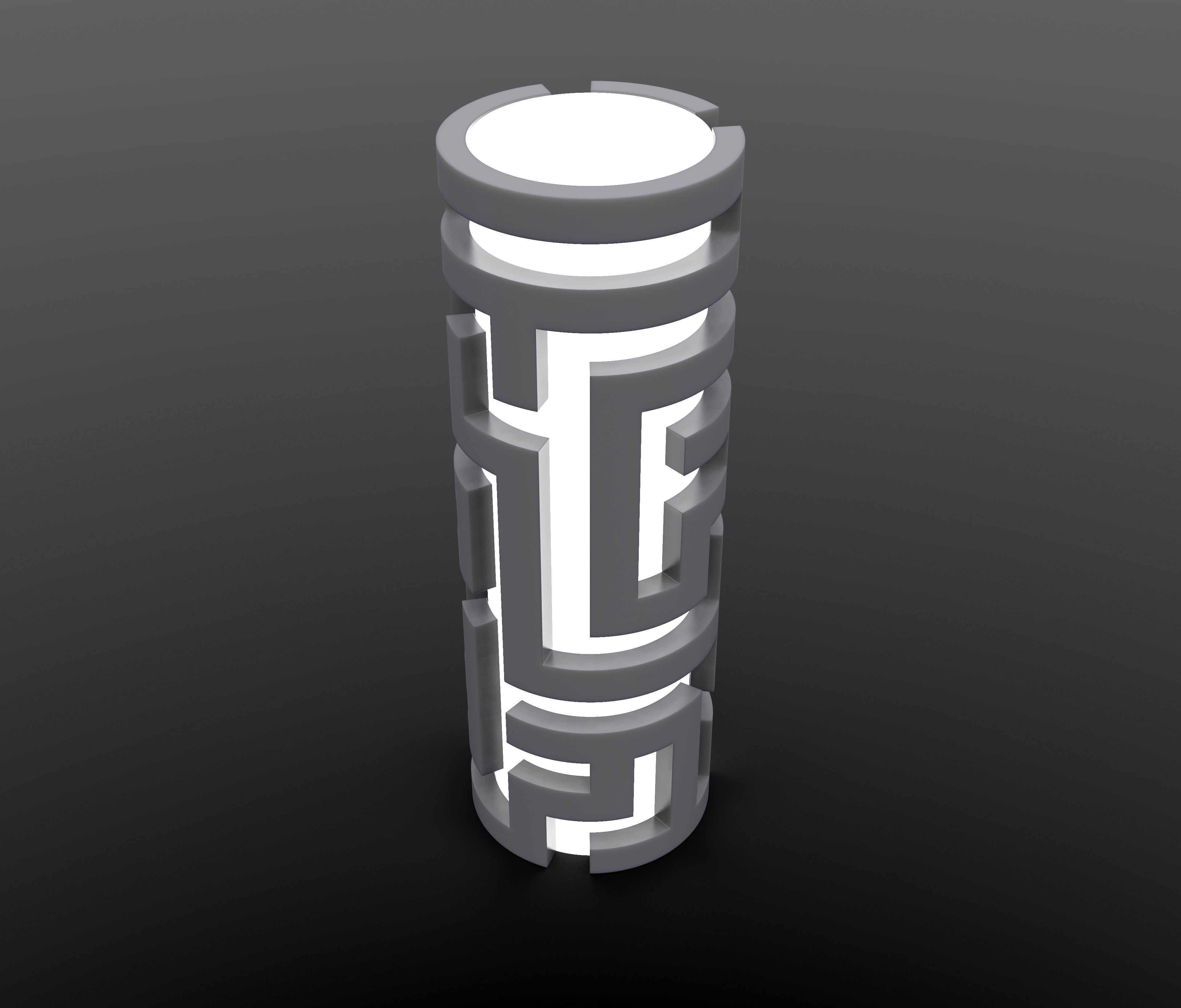 Generative design Real maze lamp2