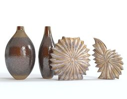 3D Shell vases set