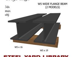 3D W5 Wide Flange Beam