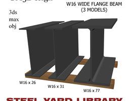 3D model W16 Wide Flange Beam