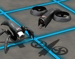 3D model SciFi Enemies and Vehicles