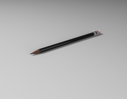 3D asset Pencils Lowpoly and Highpoly