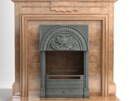 Fireplace 3D model fire