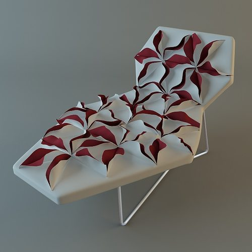 Antibodi Moroso Flower Chair 2 3d Cgtrader