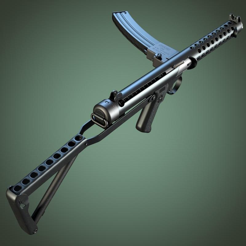 Sterling submachine gun | 3D model