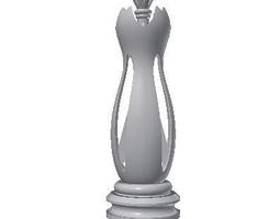 chess queen 3d print model