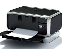 black modern printer 3d model