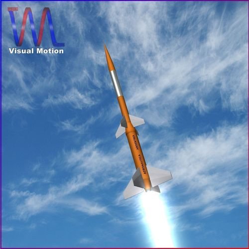 gamma centauro rocket 3d model low-poly obj mtl 3ds fbx dxf blend dae 1