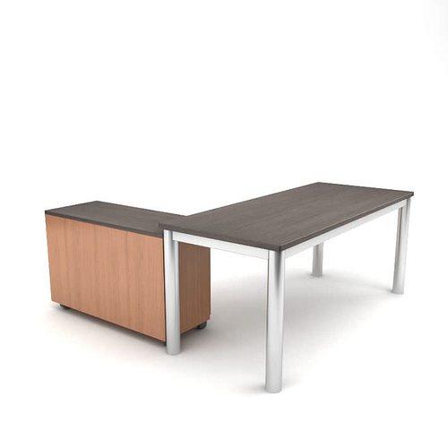 Modern Corner Desk Model Obj 1
