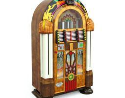 3D Retro Wooden Jukebox