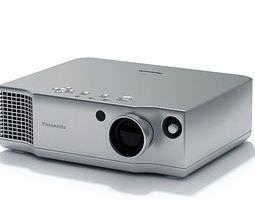 silver panasonic projector 3d model max