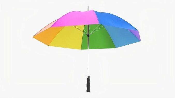 Umbrella large automatic colorful