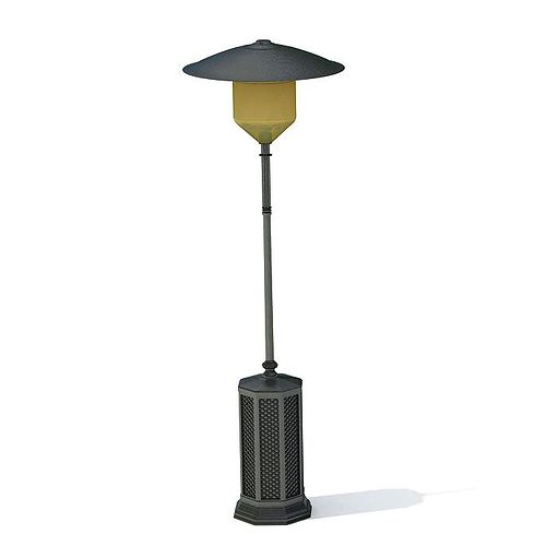 retro outdoor lamp 3d model. Black Bedroom Furniture Sets. Home Design Ideas