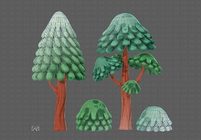 Trees Cartoon V05
