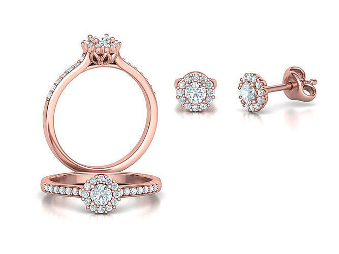 Bespoke Classic Ring and Stud Earrings Collection