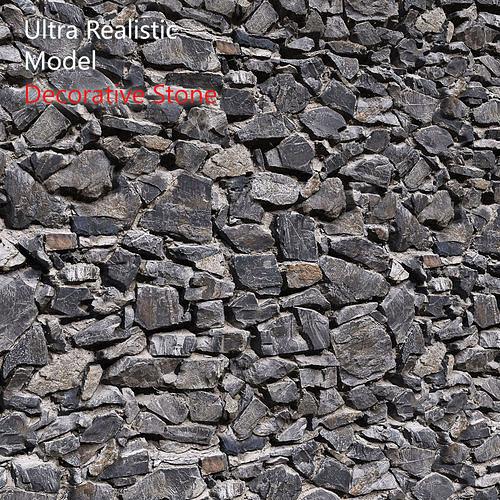 Ultra realistic Decorative dark stone wall