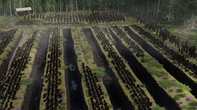 Traditional peat turf gathering kit