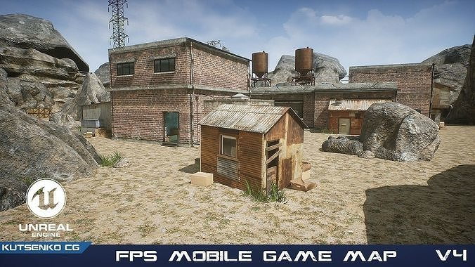 FPS Mobile Game Map v4 with assets