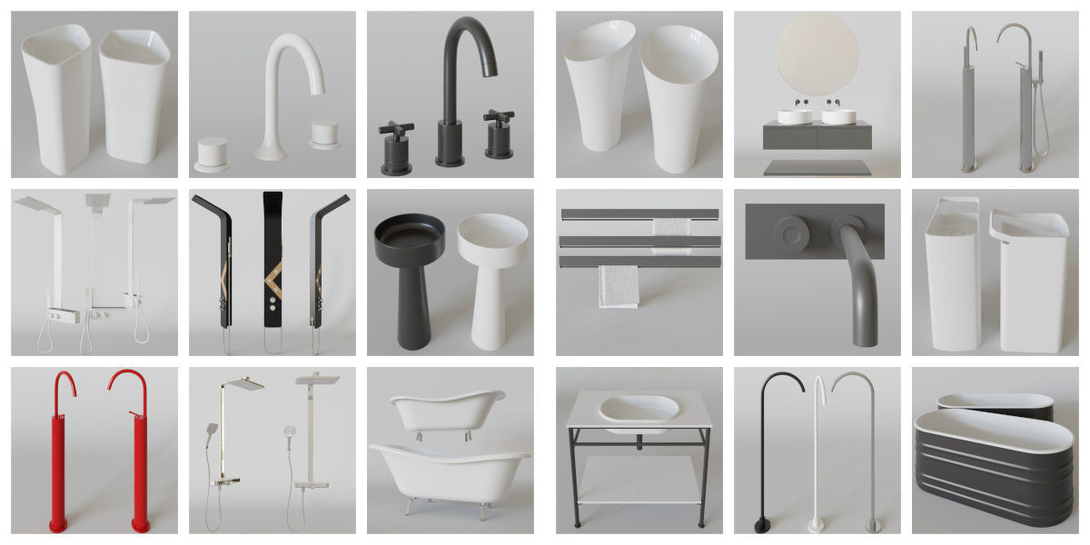 Luxcore Bathroom Assets Pack 02