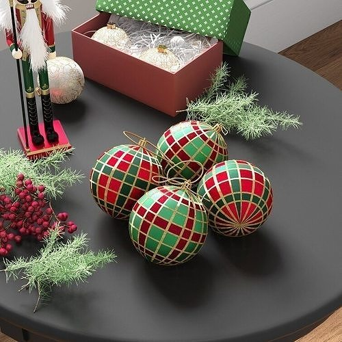 Polypropylene Plaid Ball Ornament