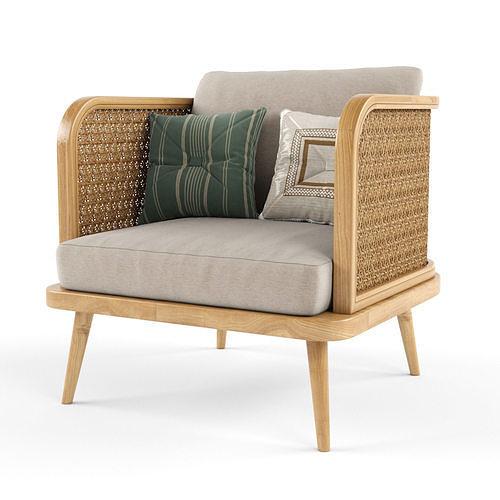 Chair outdoor rattan wood