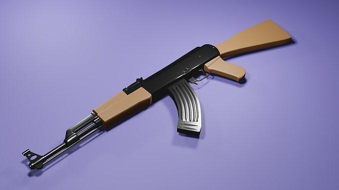 AK-47 low poly