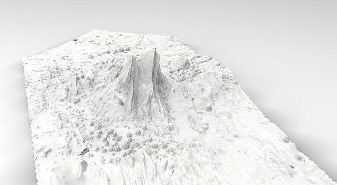 Desert sand rock formation