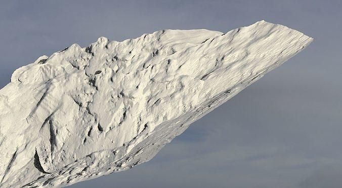 Sand storm rock formation